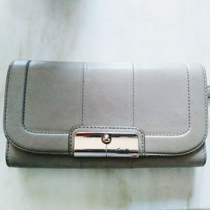 Coach Gray Soft Leather wallet billfold